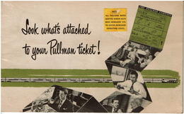 C1950 - The PULLMAN Company - Leaflet Look What's Attached To Your Pullman Ticket ! 18 Pages - 6 Scans - Chemin De Fer