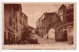 BONIFACIO (CORSE) - EGLISE SAINTE ERASME ET MONTEE DE LA VILLE - Autres Communes