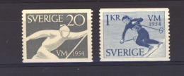 06388  -   Suède :  Yv  385-86  *   Ski - Suecia