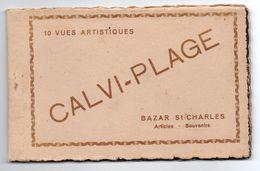 CALVI PLAGE (CORSE) - CARNET DE 10 VUES ARTISTIQUES - Calvi