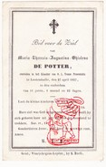 DP 14j. Maria Theresia A. De Potter ° 1843 † Klooster Lotenhulle Aalter 1857 - Ed. Bouasse Lebel Paris 435 - Images Religieuses