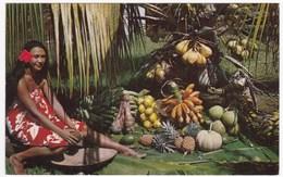 "CPSM TAHITI ""Les Délicieux Fruits De Tahiti"" (Pearl Of South Sea, Printed In USA) - Tahiti"
