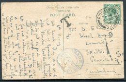 1919 Gibraltar Postcard - Skipton Penrith GB. Postage Due Taxe Handstamp - Gibraltar