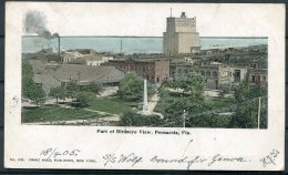 1905 USA Pensacola Postcard - R.S.O. Yorkshire Railway Via Bristol, GB Postage Due Taxe Handstamp - United States
