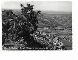 S.MARNO - BORGO MAGGIORE E LA PIANURA ROMAGNOLA    VIAGGIATA  FG - San Marino