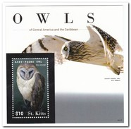St. Kitts 2015, Postfris MNH, Owls - Macedonië