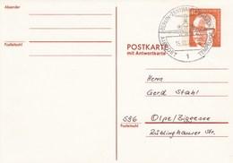 B Mi.Nr. 60/1  Postkarte Mit Antwort  40 + 0,00 Pf - Bundespräsident Heinemann - Postales - Usados
