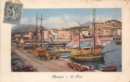 06 - ALPES MARITIMES / Menton - 06005 - Le Port - Beau Cliché - Menton
