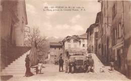 06 - ALPES MARITIMES / Belvédère - 06050 - La Place - Arrivée Du Courrier -  Beau Cliché Animé - Other Municipalities