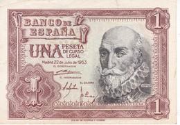 BILLETE DE 1 PTA DEL 22/07/1953 SERIE C SIN CIRCULAR-UNCIRCULATED (BANKNOTE) - [ 3] 1936-1975 : Régence De Franco