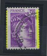 "FRANCE -  SABINE 0,50  BARRE DE PHO SUR LES DENTS = ""2 PHO"" - N°Yt 1969 Obli  TB    JAMAIS VU EN NEUF - 1977-81 Sabine (Gandon)"