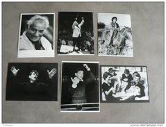 LOT PHOTOS(RETIRAGES) LE GRAND COMPOSITEUR ET CHEF D´ORCHESTRE LEONARD BERNSTEIN...SA CARRIERE ET SA VIE   ! - Reproductions