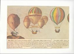 Montgolfières - Gravure Populaire Commémorant L'ascension De Trois Ballons En 1824 Et 1836 - Prints & Engravings