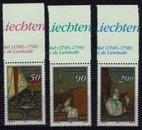 Liechtenstein 1988 - MiNr 957-959 - Der Brief. - Ungebraucht