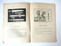 LIVRET 1949 HISTOIRE DES ARMES BLANCHES BIBLIOTHEQUE DU TRAVAIL BT 83 - Armas Blancas