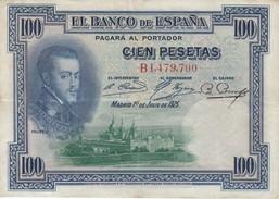 BILLETE DE ESPAÑA DE 100 PTAS DEL AÑO 1925 SERIE B CON SELLO SECO GOBIERNO PROVISIONAL DE LA REPUBLICA  (BANKNOTE) - [ 1] …-1931 : First Banknotes (Banco De España)