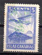Viñeta   Nº 26i  Sobrecarga Franco  Invertida   Islas Canarias . - Verschlussmarken Bürgerkrieg