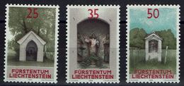 Liechtenstein 1988 - MiNr 951-953 - Bildstöcke - Kapelle Kapel Chapel Chapelle - Kirchen U. Kathedralen