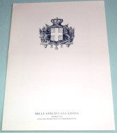"""St51. Marcofilia - Ostra (AN) 1998 - Folder """"Mille Anni Di Casa Savoia"""", Con Annullo Su Busta Filatelica Ufficiale - Presentation Packs"""
