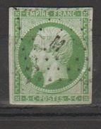 TIMBRE NAPOLEON  *OBLITERE  N°12   AVEC TRACE CHARNIERE   .VOIR RECTO VERSO - 1853-1860 Napoléon III