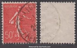 Variété 50 'o' Sur 50c Semeuse TB (Y&T N° 199k) - 1906-38 Semeuse Camée