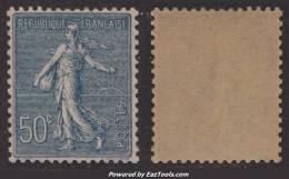 50c Semeuse Lignée Neuf ** Sans Charnière  TB Centré (Y&T N° 161, Cote: +125€) - 1906-38 Semeuse Camée
