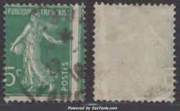 Belle Variété D'impression Sur 5c Semeuse, Signé CALVES (Y&T N° 137 , Cote: +++€) - 1906-38 Semeuse Camée