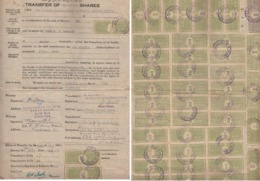 HYDERABAD State  4A And 8Ax44  Type 60  Court Fee On  Document  # 96772  India Inde Revenue - Hyderabad