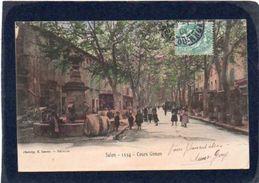 13 SALON DE PROVENCE COURS GIMON Couleur BELLE ANIMATION Cpa Précurseur 1904 N°1354 - Salon De Provence