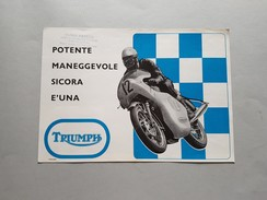 4) Triumph 1970 Catalogo Produzione Moto Depliant Originale - Genuine Brochure - Motorrad Originalprospekt - Moto