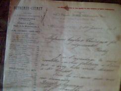 Vieux Papier Facture Outremer Guimet Usine De Teintures A Dole Du Jura /fleuriet Sur Saone Annee 1902 Lettre A Entete - Otros