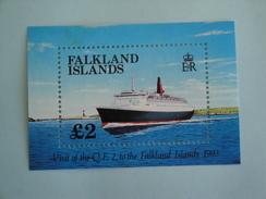 1993  Falkland Yvert BF 10 **  Bateaux Ships Scott Xx Michel B 10  SG Ms 675  Queen Elisabeth II - Falkland