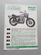 4) Ducati 350 Scrambler 1968 Depliant Originale Moto - Genuine Brochure - Motorrad Originalprospekt - Moto