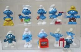 Ferrero 1995 : 12 Schtroumpfs Différentes Années (Figurines Issus De Maxi-Kinder Et Kinder Surprise) - Smurfs