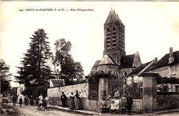 GRISY LES PLATRES Rue D'Angoulême Belle Cpa Animée Circulée En 1916 Bon état Voir Scans - Altri Comuni