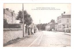 CPA 36 SAINT-GAULTIER ROUTE DU BLANC ET LE CHAMP DE FOIRE Achatez Immédiat - France