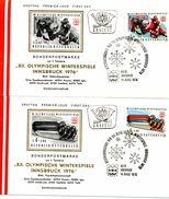 Österreich - FDC -  Mi.Nr.1479 - 1482    Olympische Winterspiele 1976, Innsbruck (I). - FDC