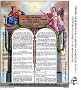 France.bloc No 11 De 1989.bicentenaire De La Révolution Française.droits De L'homme.n**. - Sheetlets