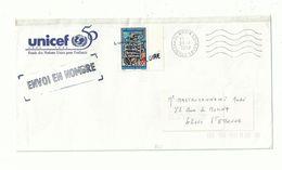 1 Enveloppe UNICEF Réutilisée En PP..Avec N° 3036 ..à Dentelure Coupée...oblitéré Griffe LOIRE à L'arrivée.............. - Abarten Und Kuriositäten