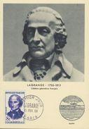 FDC - 1958 - LAGRANGE - Géomètre - PARIS - Cartes-Maximum