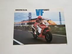 4) Honda VF 500 F2 1985 Depliant Originale Moto - Genuine Brochures - Motorrad Originalprospekt - Moto
