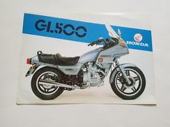 4) Honda GL 500 1981 Depliant Originale Moto - Genuine Brochures - Motorrad Originalprospekt - Moto