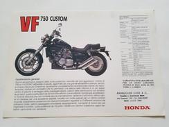 4) Honda VF 750 Custom 1984 Depliant Originale Moto - Genuine Brochures - Motorrad Originalprospekt - Moto