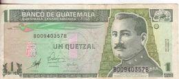 32-Guatemala-Cartamoneta-Banconota Circolata 1 Quetzal-Stato Di Conservazione:Buono - Guatemala