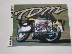 4) Yamaha TDM 850 1996 Depliant Originale Moto - Genuine Brochures - Motorrad Originalprospekt - Moto