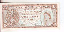 33-Hong Kong-Cartamoneta-Banconota F.D.S. 1 Cent-Stato Di Conservazione:Ottimo - Hong Kong