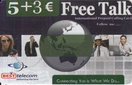 GREECE - Best Telecom Prepaid Card 5+3 Euro, Sample - Greece