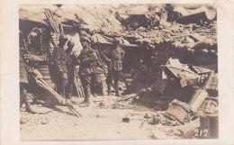 CARD PHOTO Cm.1,7X8,6 PRIMA GUERRA MONDIALE RIFUGIO ITALIANO MILITARI  RAZZI LUMINOSI BARELLE -2-0882-27442 - Weltkrieg 1914-18