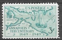 1949 3 Cents Annapolis Mint Never Hinged - United States