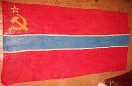Flag Of Uzbek Republic Of USSR - 85x155sm - Bandiere